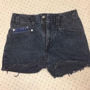 Vintage Levi's Dark Wash Denim Shorts